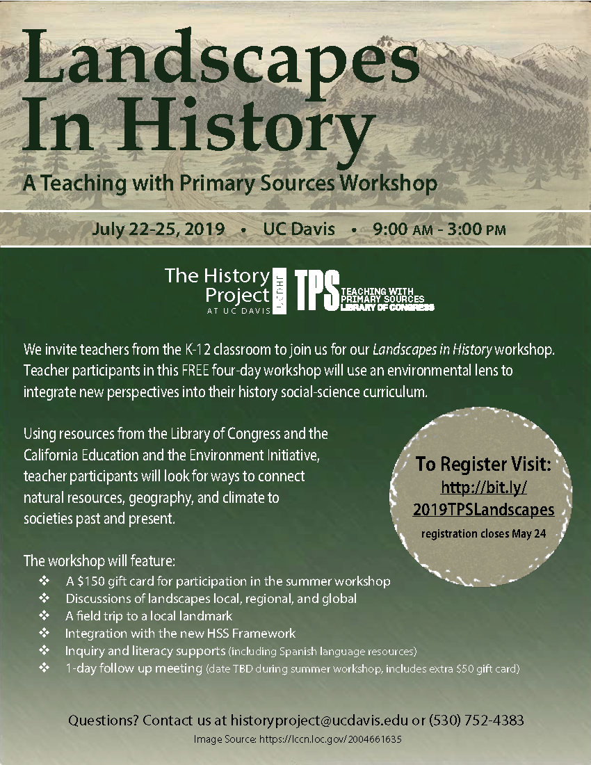 TPS Landscapes in History flier